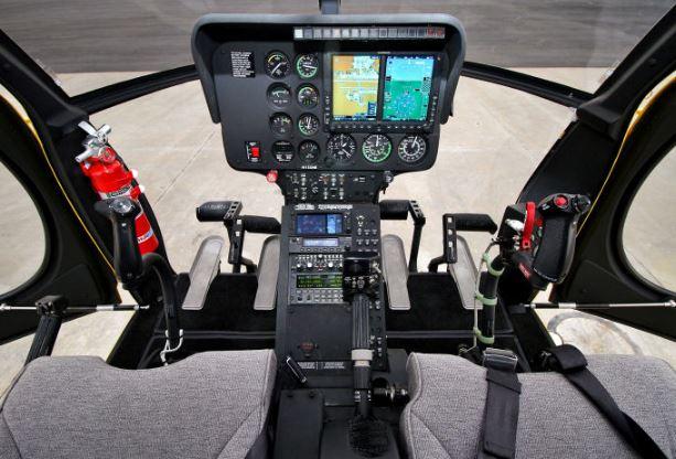 MD 500E cockpit