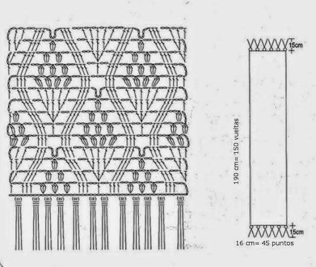 Bufanda tejida con ganchillo | Crochet y Dos agujas - Patrones de tejido