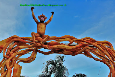 Monkey lantern, Mid-Autumn Festival, Gardens by the Bay, Singapore