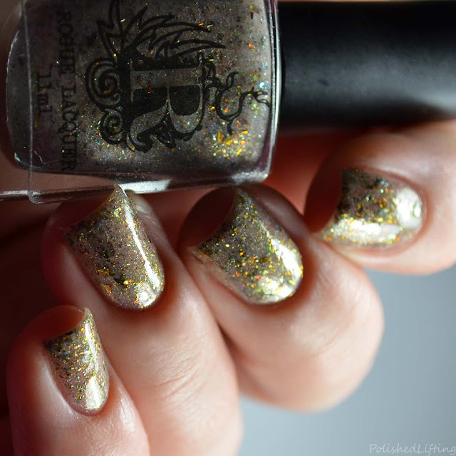 sandy holo flakie nail polish
