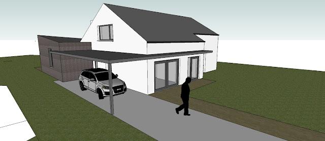 3D voorgevel woning verbouwing