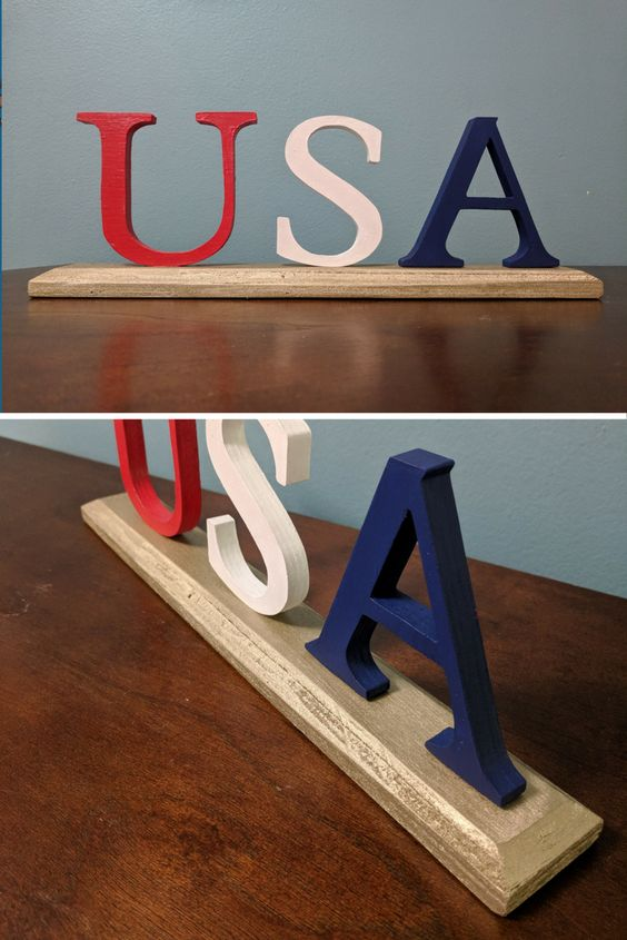 Easy 4th of July home decor idea