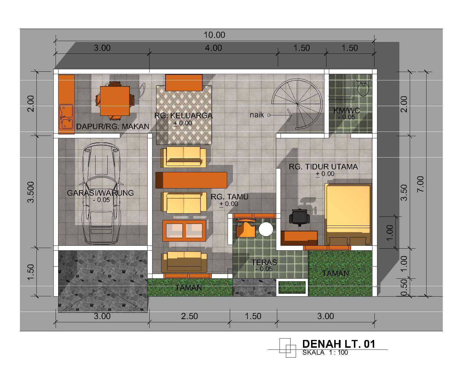 DUNIA ID 69 Desain Rumah Minimalis Dan Rab