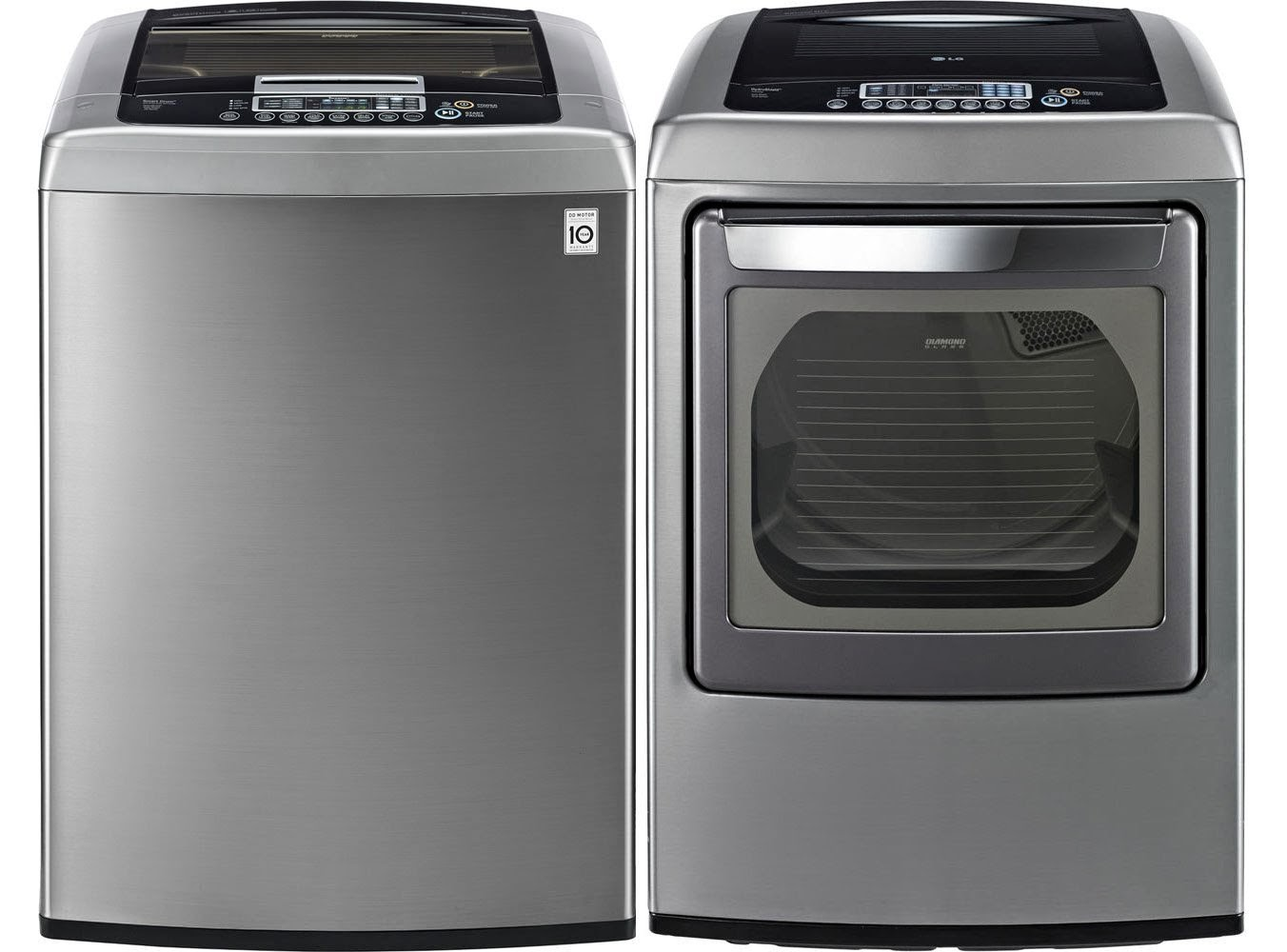 The best top load washer on the market - Lg Graphite 4 5 Cf Front Control Top Load Washer And 7 3 Cf Steam Electric Dryers