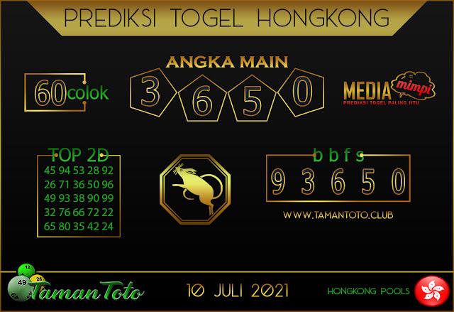 Prediksi Togel HONGKONG TAMAN TOTO 10 JULI 2021
