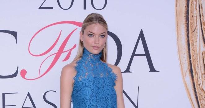 163477fa9d30 Martha Hunt wears blue lace romper to the CFDA Fashion Awards