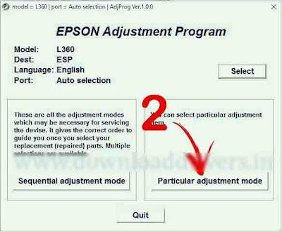 Epson L360 Printer resetter Tools