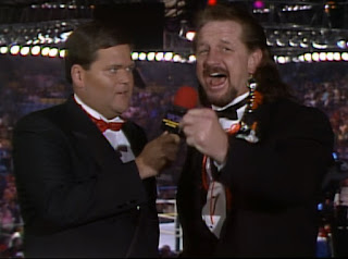 WCW Wrestlewar 1990 - Jim Ross and Terry Funk