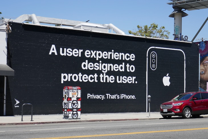experience designed protect user Privacy iPhone wall mural ad
