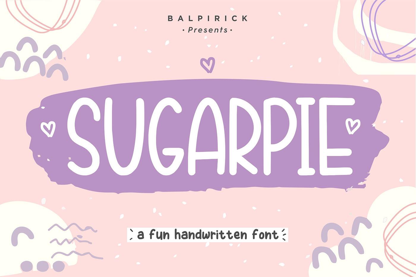 تحميل خط شوجاربى اليدوي اللاتينى الرائع - Sugarpie Font