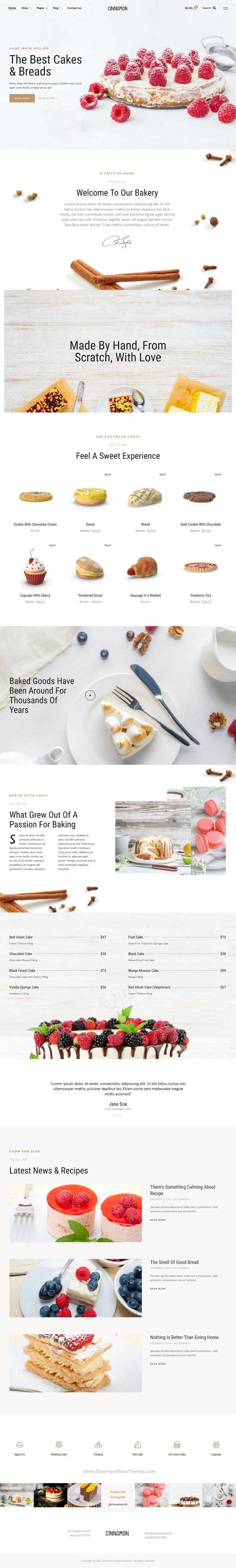 Bakery and Pastry Shop Elementor Template Kit