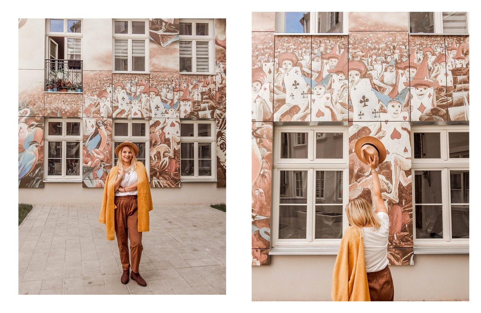 3 łódź podwórko artystyczne przy ul. Więckowskiego 4 murale łódzkie graffiti artystyczne podwórka miejsca które warto zobaczyć instafriendly miejsca w łodzi na sesje zdjęciowe dla blogerów ładne piękne kolorowe