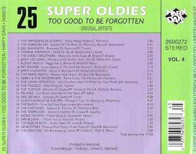 VA - 25 Super Oldies - Too Good To Be Forgott (Vol 4 - 1990)