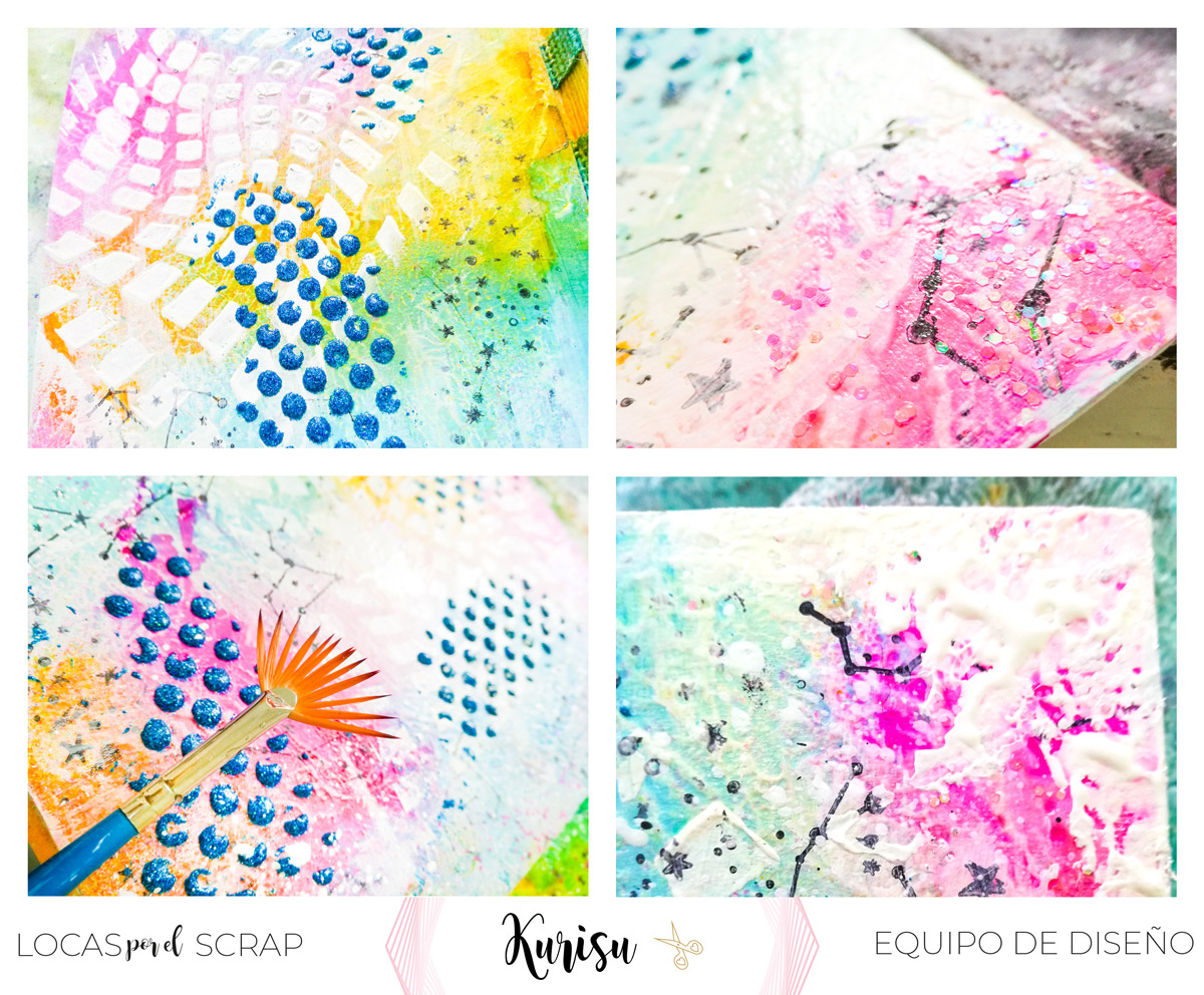 Tutorial como hacer art journal con mixed media locas por el scrap