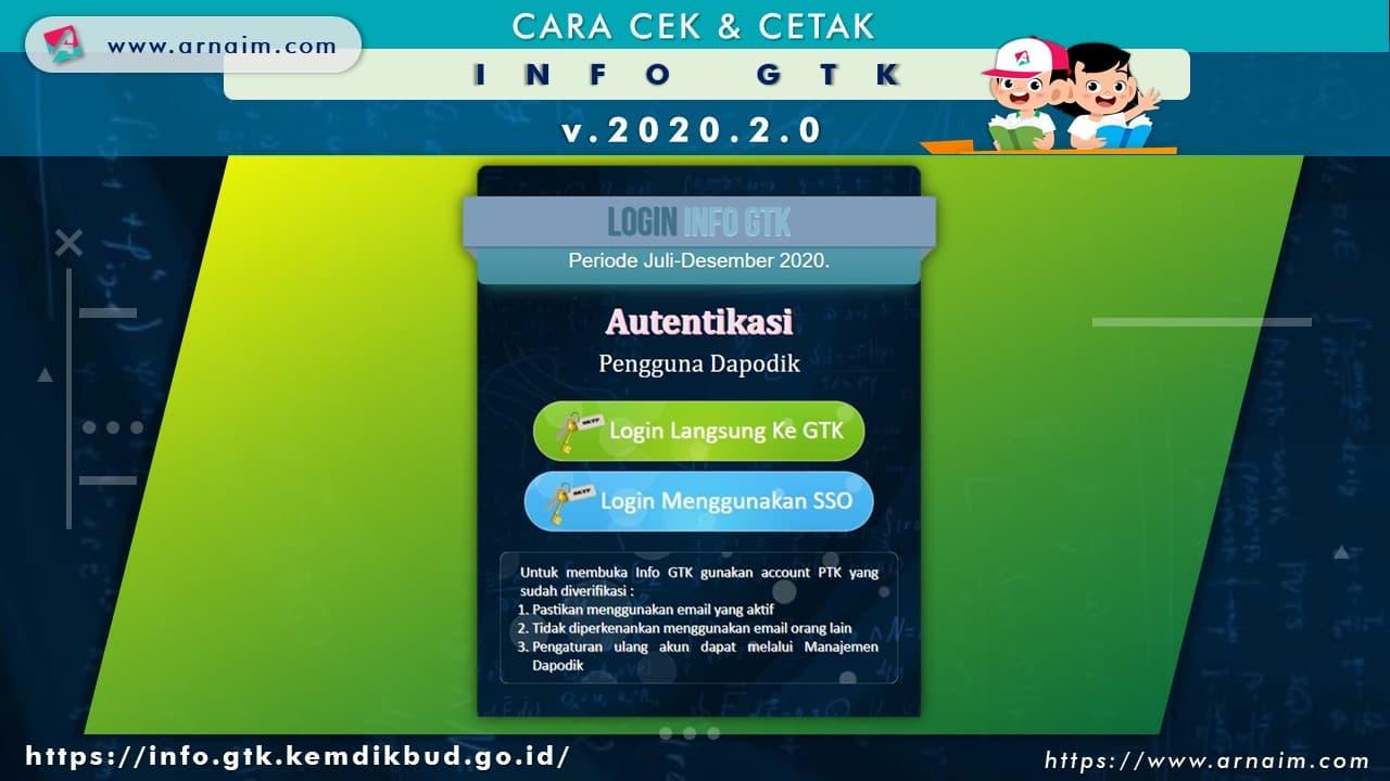 ARNAIM.COM - CARA CEK & CETAK INFO GTK v.2020.2 - LOGIN INFO GTK