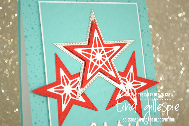 scissorspapercard, Stampin' Up!, CASEing The Catty, So Many Stars Bundle, Christmas Greetings Thinlits, Subtle EF, Greatest Part Of Christmas