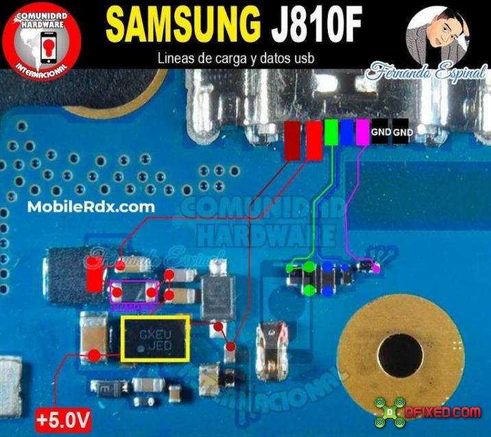 Cara Memperbaiki Samsung J8 J810F No Charging