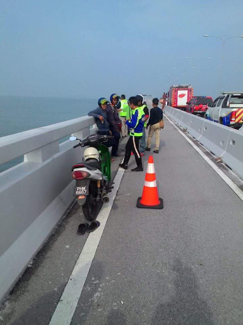Tekanan Hdup...Lelaki Ini Nekad Bunuh Diri Di Jambatan Pulau Pinang
