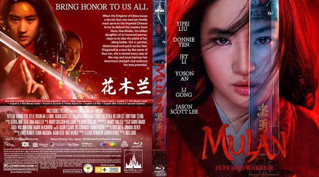Mulan (2020) Bluray Cover