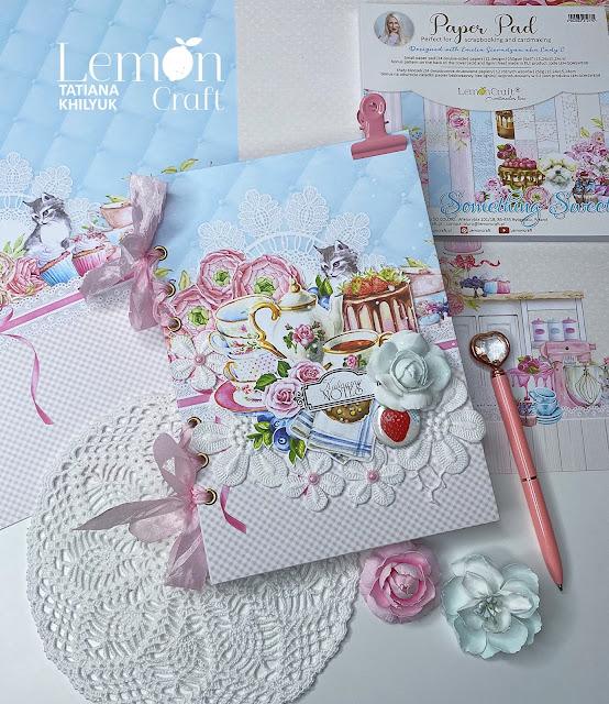 Notes na przepisy w dziewczęcej, słodkiej formie i pastelowej kolorystyce