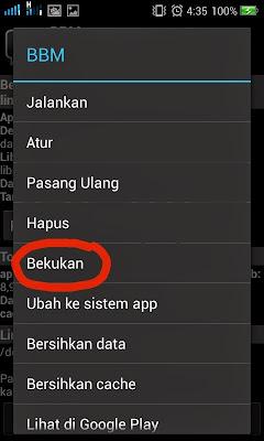 freeze aplikasi bawaan