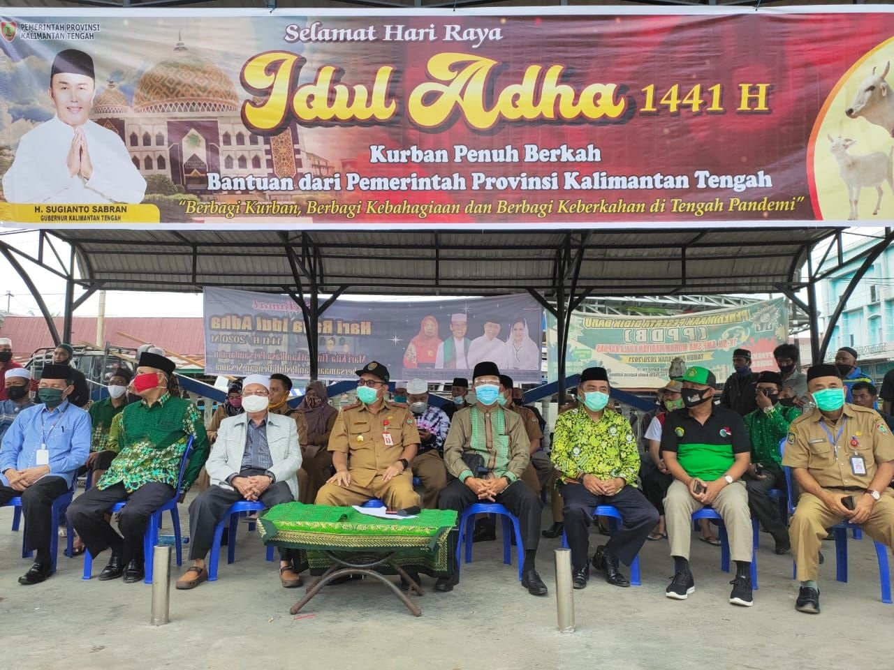 Ketua DPW LDII Kalimantan Tengah Bersama MUI, NU, Dan Muhammadiyah  Menghadiri  Ceremonial Penyerahan Bantuan Kurban Dari Pemerintah Prov. Kalteng