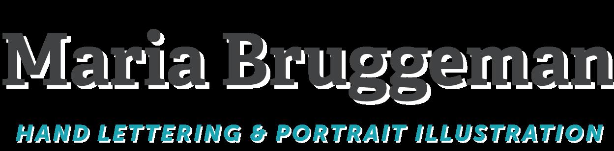 Maria Bruggeman - grafisch ontwerp + hand-lettering + portret illustratie