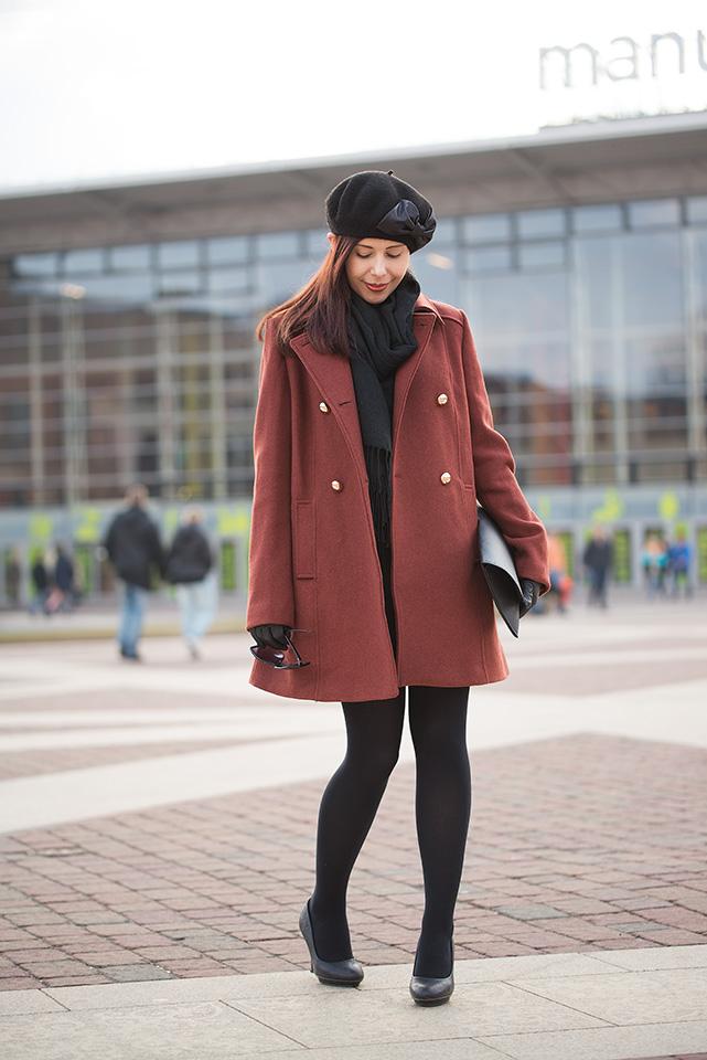paryski szyk stylizacja z beretem