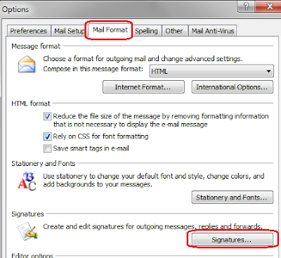 Add Signature in MS Outlook 2007