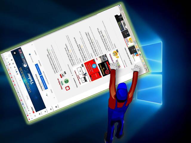 para girar la pantalla en windows 10 solo debes oprimir las teclas contro + alt + la flecha donde quieres que se vea tu pantalla simultáneamente