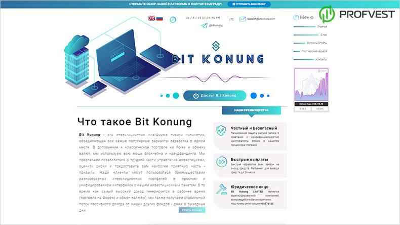 Bit Konung обзор и отзывы HYIP-проекта