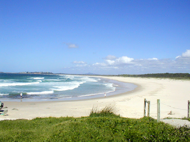 The beach, Iluka, New South Wales, Australia. Photo by Loire Valley Time Travel.