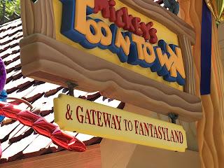 Mickey's Toontown Disneyland Railroad Sign