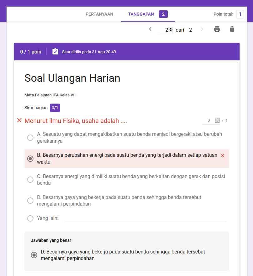 Cara Membuat Soal Ujian Dan Jawaban Online Dengan Google Formulir Cariduit Dot