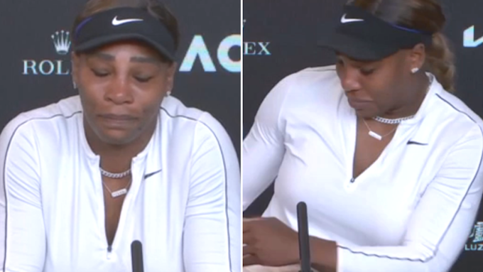 'I'm done' - Watch Serena Williams leave pressroom in tears after semi-final loss to Naomi Osaka (video)