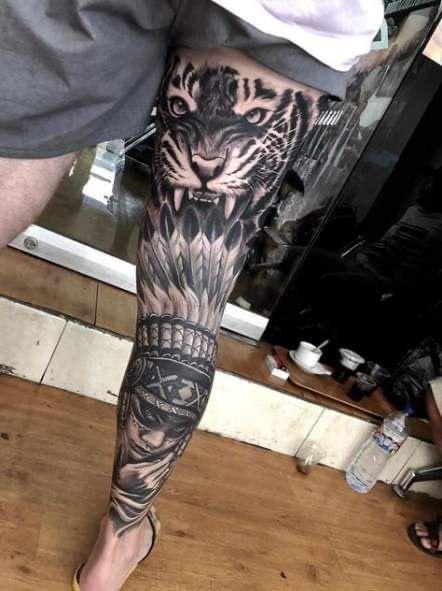 leg tattoos for men 2020