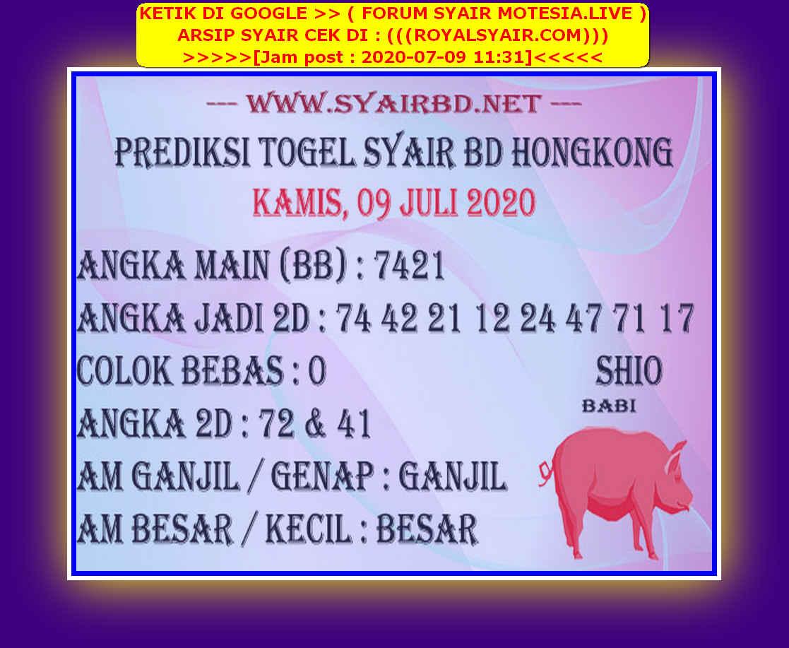 Kode syair Hongkong Kamis 9 Juli 2020 227