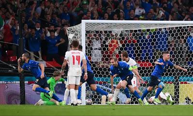 ملخص وركلات ترجيح واهداف وتتويج مباراة ايطاليا وانجلترا في نهائي كاس امم اوروبا