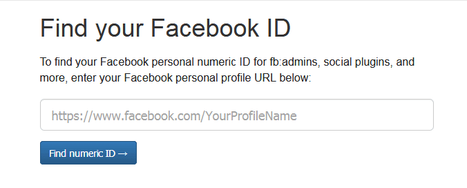 Find my Facebook ID