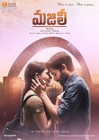 Poster Of Free Download Majili 2019 300MB Full Movie Hindi Dubbed 720P Bluray HD HEVC Small Size Pc Movie Only At worldfree4u.com