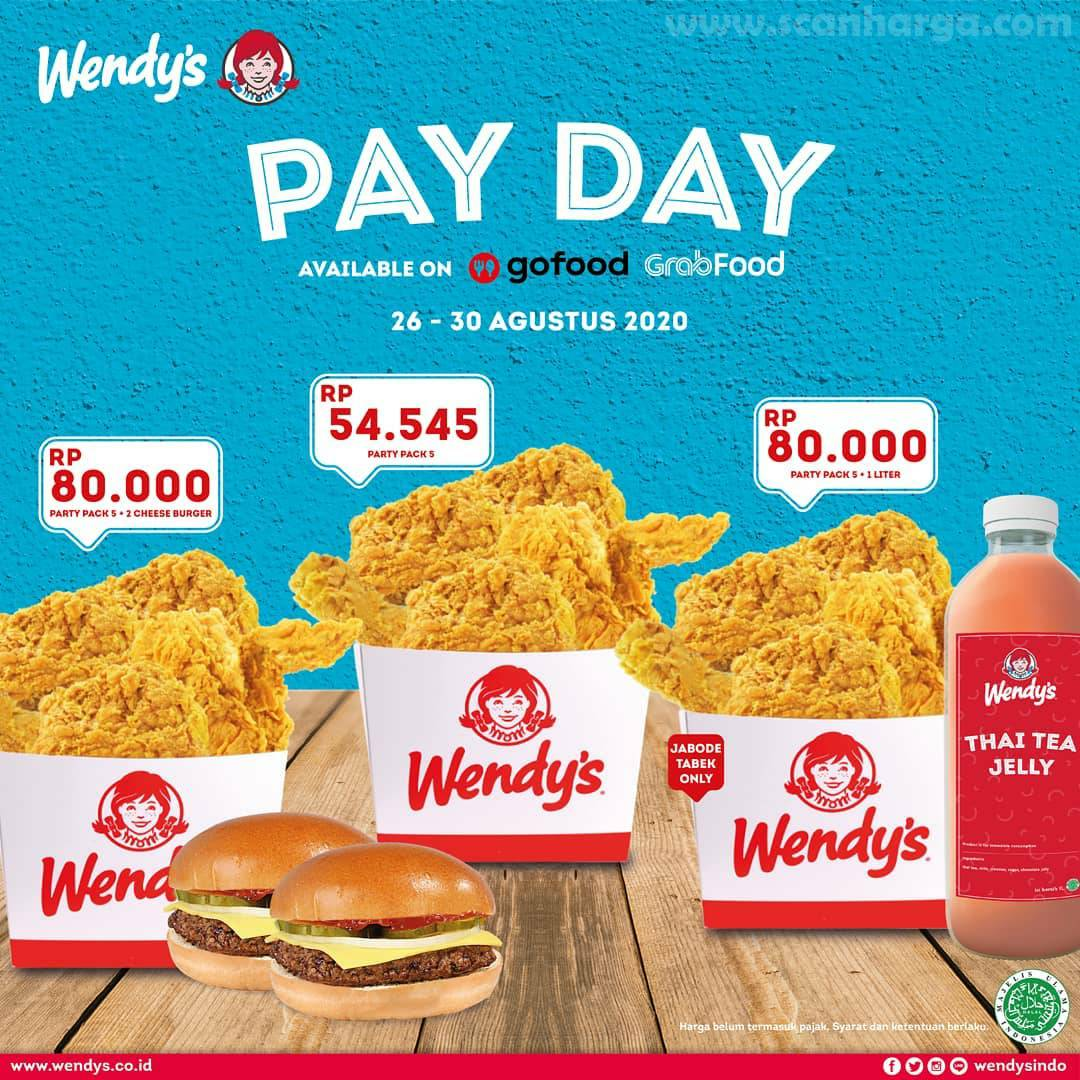Promo Wendy's Let's Start To Payday 26 - 30 August 2020