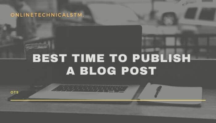 best time to publish a blog post for specific goals