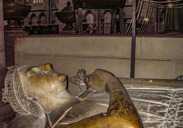 Ricardo Coração de Leão na Catedral de Notre Dame de Rouen, Normandia