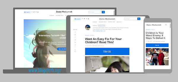 Mediumish - Premium Blogger Template Download