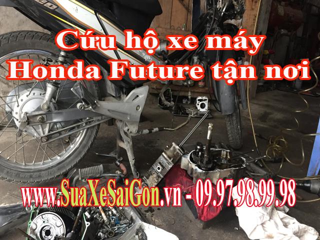 Cứu hộ xe máy Honda Future tận nơi tại TpHCM. Gọi 0902623186 để sửa chữa