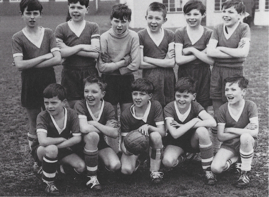 Photograph of North Mymms Junior Boys School Football team, district finalists Hatfield, March 14, 1964