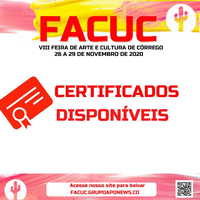 Certificados da FACUC 2020 já estão disponíveis