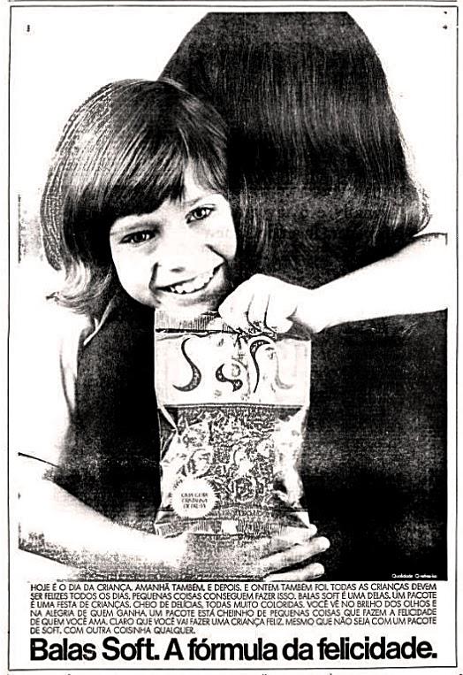 Anúncio de 1973 da Bala Soft para o Dia das Crianças