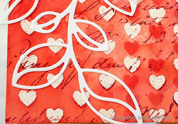 Layers of ink - Stencil Resist Tutorial by Anna-Karin Evaldsson.