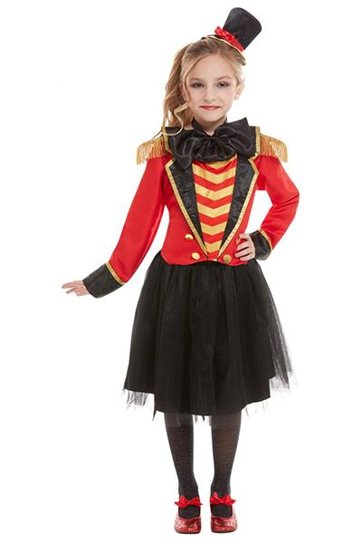 Boys Tailcoat Costume Kids Ringmaster Fancy Dress Outfit Showman Circus Girls